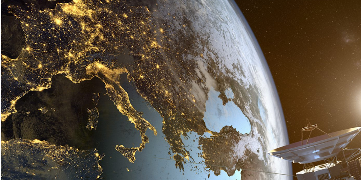 Europe from space by NASA